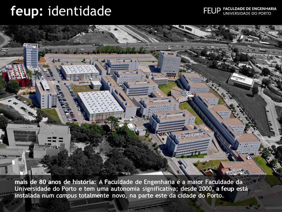 feup: identidade mais de 80 anos de história: A Faculdade de Engenharia é a maior Faculdade da Universidade do Porto e tem uma autonomia significativa