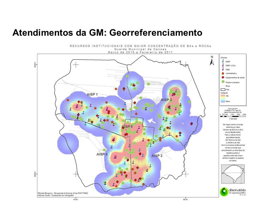 Atendimentos da GM: Georreferenciamento