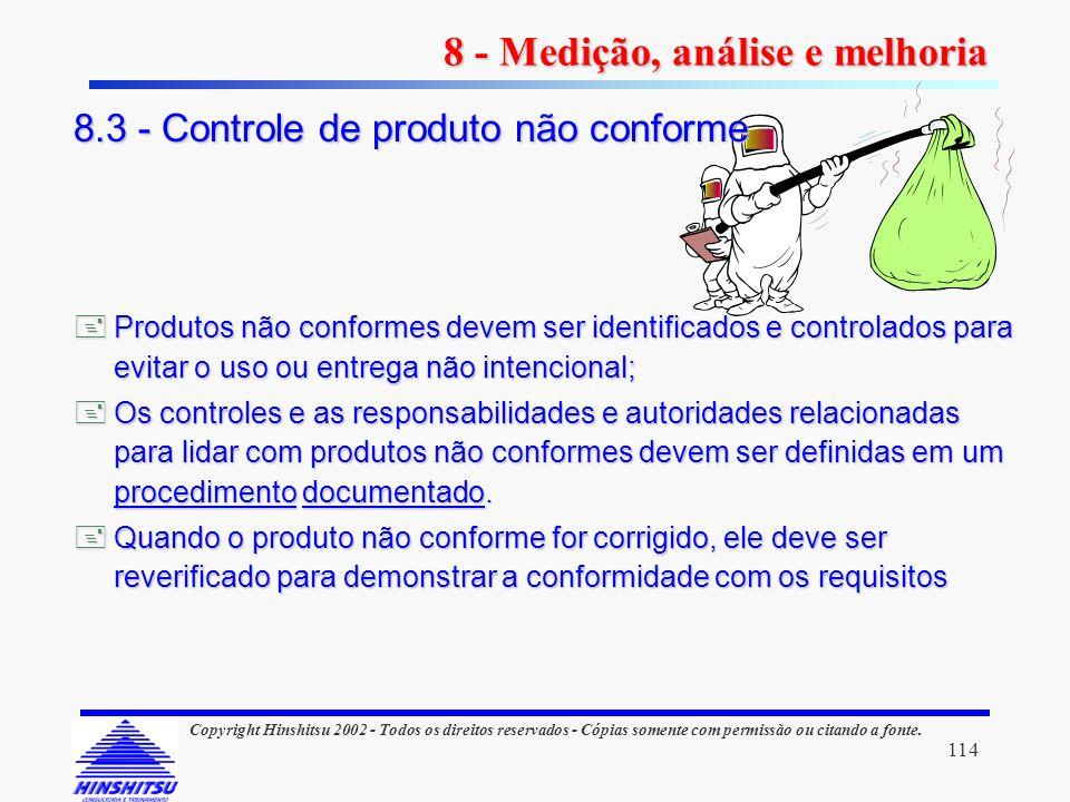 114 Copyright Hinshitsu 2002 - Todos os direitos reservados - Cópias somente com permissão ou citando a fonte. Produtos não conformes devem ser identi