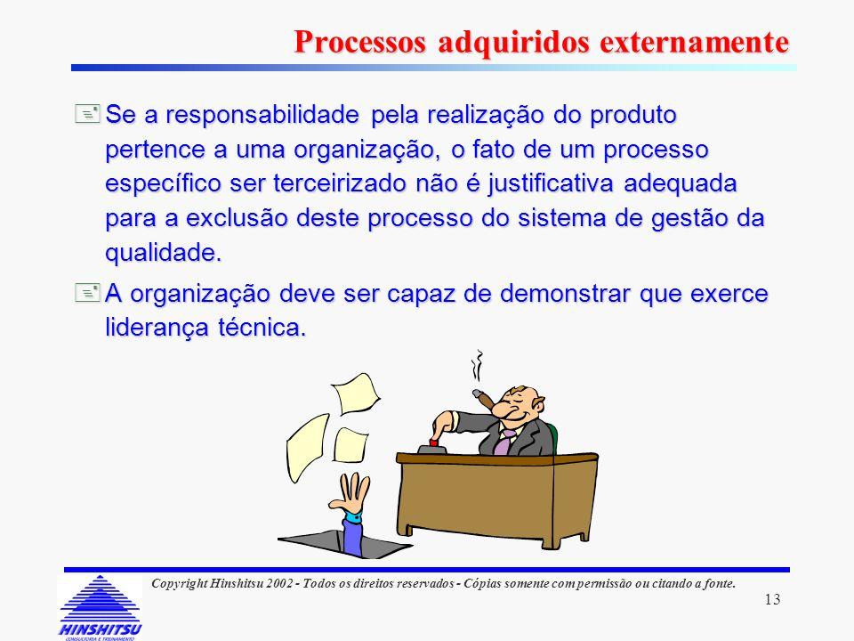 13 Copyright Hinshitsu 2002 - Todos os direitos reservados - Cópias somente com permissão ou citando a fonte. Se a responsabilidade pela realização do
