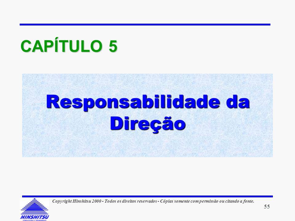 Responsabilidade da Direção CAPÍTULO 5 55 Copyright Hinshitsu 2000 - Todos os direitos reservados - Cópias somente com permissão ou citando a fonte.