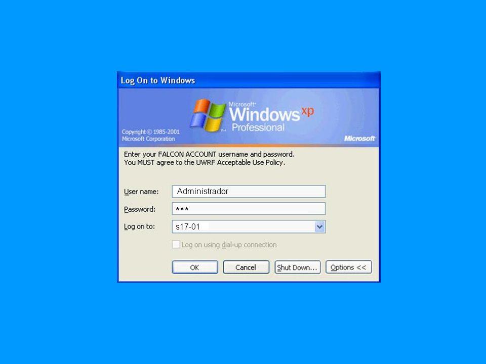 Administrador s17-01 Password 1 Password 3 Password 2 Password 4