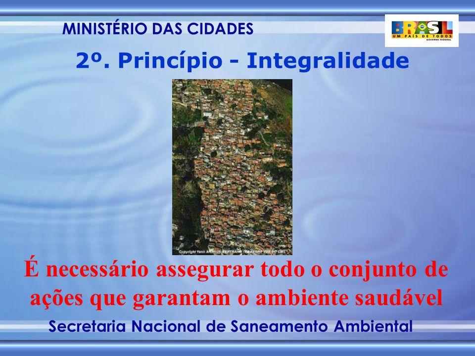 MINISTÉRIO DAS CIDADES Secretaria Nacional de Saneamento Ambiental É necessário assegurar todo o conjunto de ações que garantam o ambiente saudável 2º.