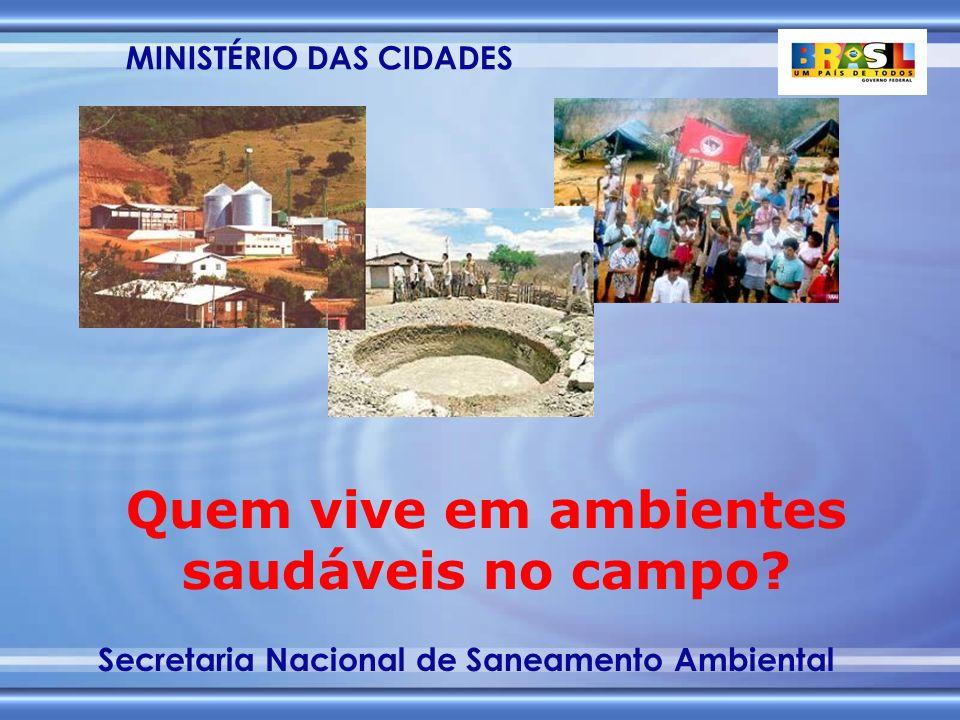 MINISTÉRIO DAS CIDADES Secretaria Nacional de Saneamento Ambiental FGTS - POSSIBILIDADES DE FINANCIAMENTO DE PROJETOS DE SANEAMENTO EM 2003 3.