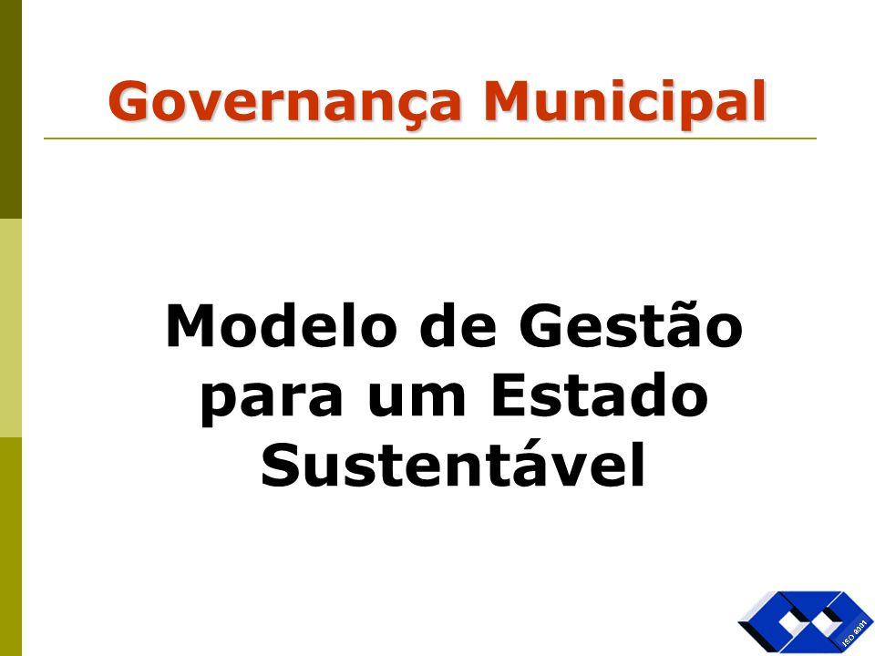 Governança Municipal Modelo de Gestão para um Estado Sustentável
