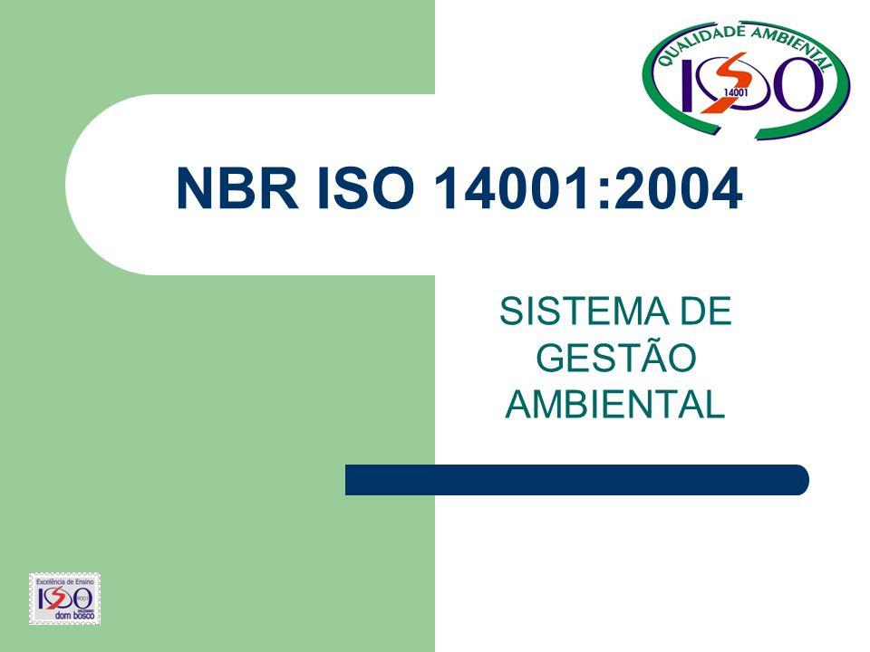 NBR ISO 14001:2004 SISTEMA DE GESTÃO AMBIENTAL