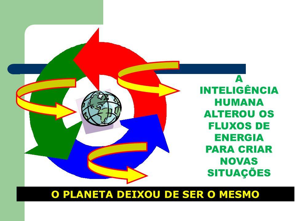 O PLANETA DEIXOU DE SER O MESMO A INTELIGÊNCIA HUMANA ALTEROU OS FLUXOS DE ENERGIA PARA CRIAR NOVAS SITUAÇÕES