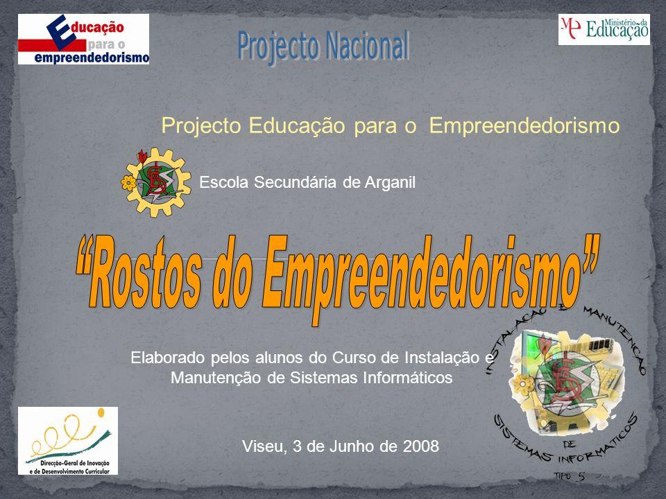Projecto Educação para o Empreendedorismo Elaborado pelos alunos do Curso de Instalação e Manutenção de Sistemas Informáticos Viseu, 3 de Junho de 200