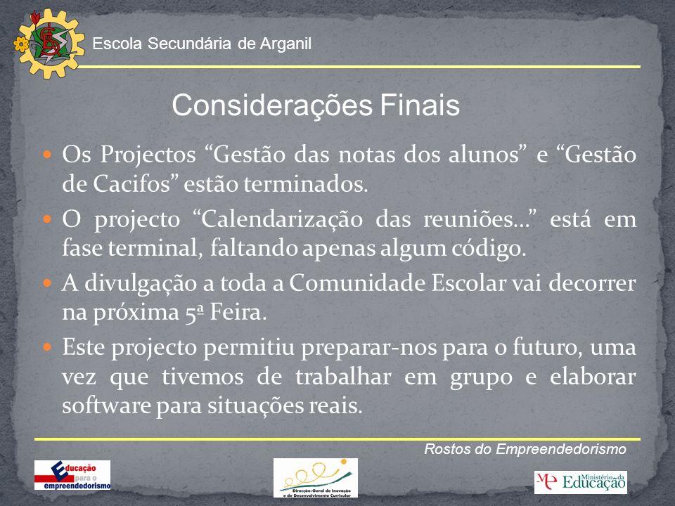 Escola Secundária de Arganil Rostos do Empreendedorismo Contactos: Escola Secundária de Arganil Av.