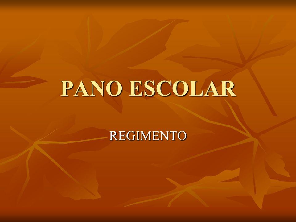 PANO ESCOLAR REGIMENTO