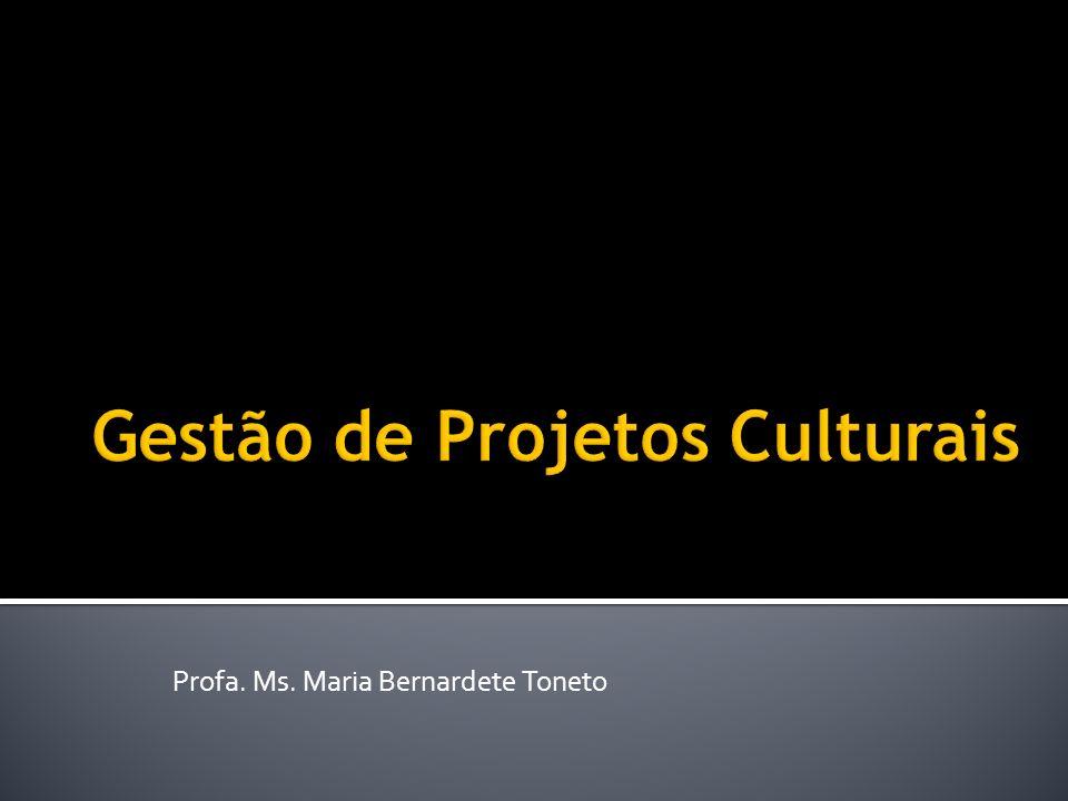 O que? Artista? Gestor de cultura? Gestor de processos culturais? Gestor de projetos culturais? 12