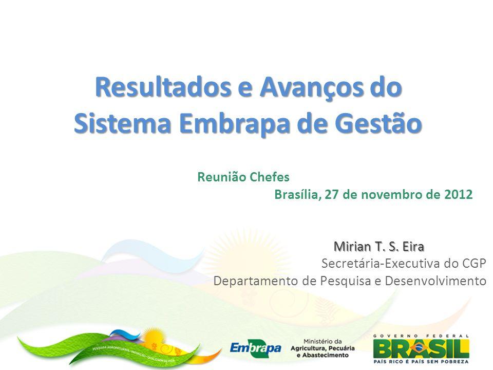 Obrigada! Mirian Eira chefia.dpd@embrapa.br