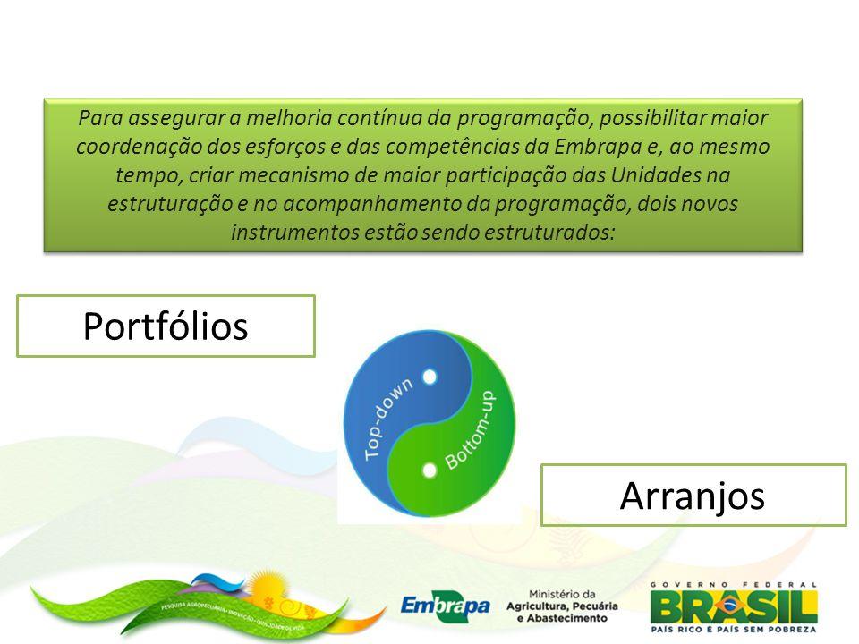 Para assegurar a melhoria contínua da programação, possibilitar maior coordenação dos esforços e das competências da Embrapa e, ao mesmo tempo, criar