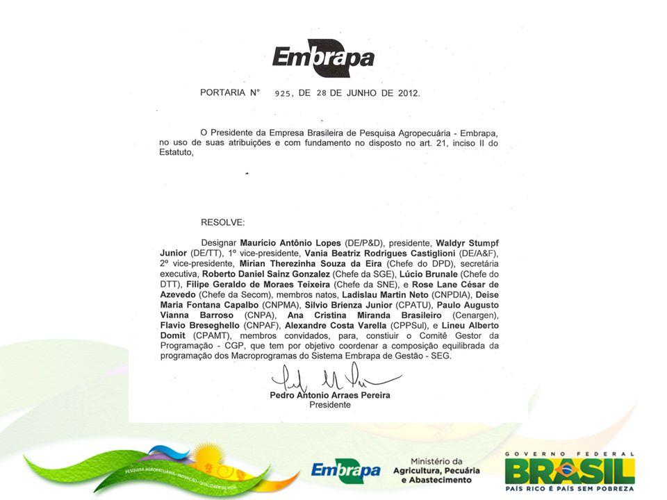 Portfólio de PD&I para o Setor Sucroalcooleiro Energético Portfólio de Projetos em Mudanças Climáticas Portfólio Monitoramento da Dinâmica do Uso e Cobertura da Terra no Território Nacional Portfólio de Projetos em Sistemas de Produção de Base Ecológica Portfólio de Pesquisa em Óleo de Palma Portfólios Constituídos
