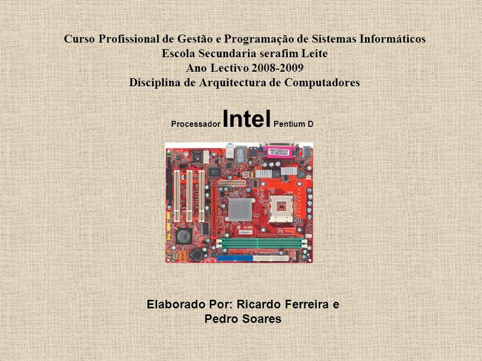 Curso Profissional de Gestão e Programação de Sistemas Informáticos Escola Secundaria serafim Leite Ano Lectivo 2008-2009 Disciplina de Arquitectura d