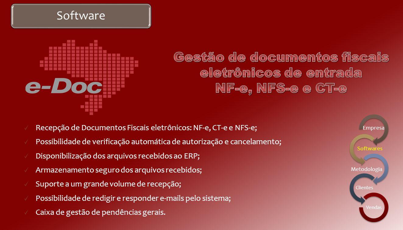 Software Gerenciamento da emissão de Conhecimentos de Transportes eletrônicos; Simplificação do processo operacional de expedição; Integração de TMS e