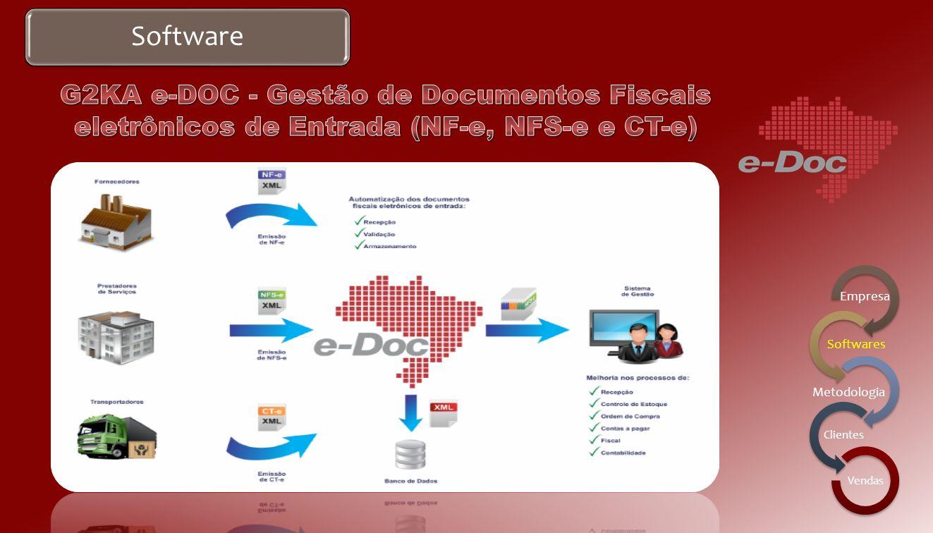 Software Recepção de Documentos Fiscais eletrônicos: NF-e, CT-e e NFS-e; Possibilidade de verificação automática de autorização e cancelamento; Dispon