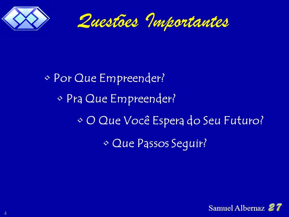 Samuel Albernaz 4 Questões Importantes Por Que Empreender? Pra Que Empreender? O Que Você Espera do Seu Futuro? Que Passos Seguir?