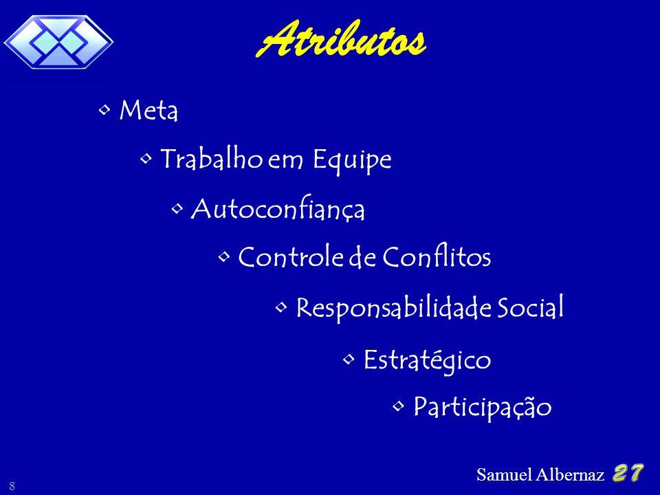 Samuel Albernaz 8 Atributos Controle de Conflitos Autoconfiança Trabalho em Equipe Responsabilidade Social Participação Meta Estratégico,
