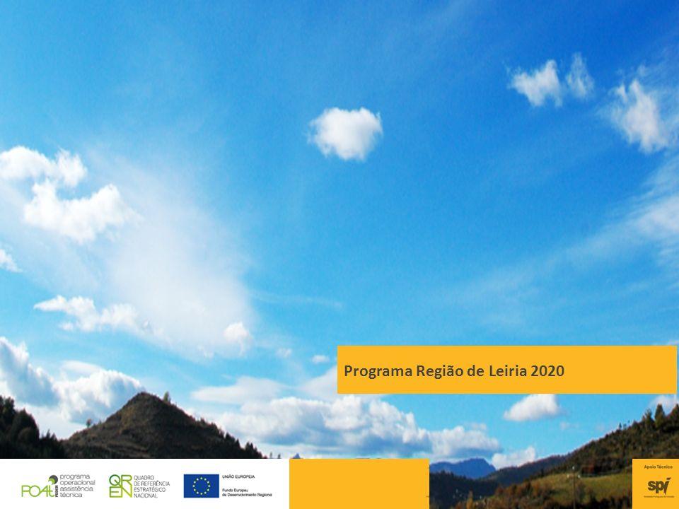 Programa Região de Leiria 2020 38 Programa Região de Leiria 2020