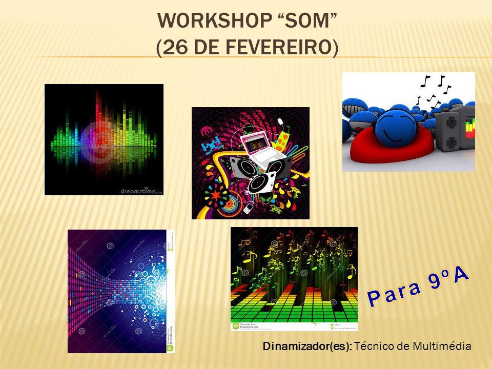 WORKSHOP SOM (26 DE FEVEREIRO) Dinamizador(es): Técnico de Multimédia