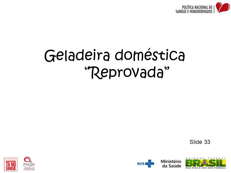 Geladeira doméstica Reprovada Slide 33