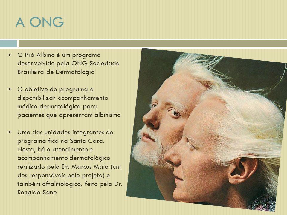 O Pró Albino é um programa desenvolvido pela ONG Sociedade Brasileira de Dermatologia O objetivo do programa é disponibilizar acompanhamento médico de
