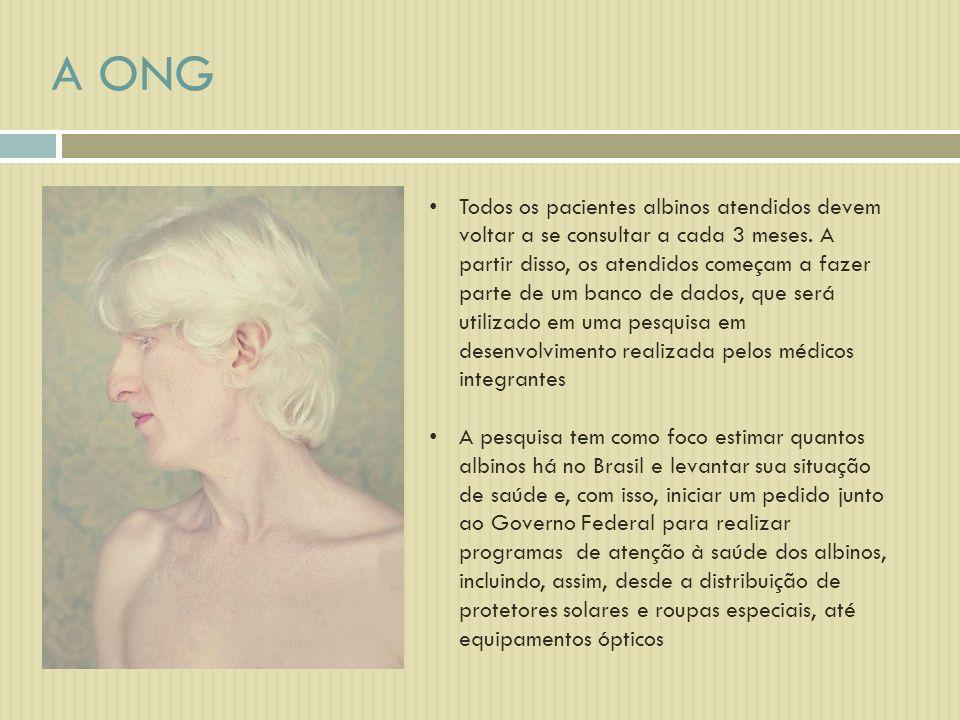Todos os pacientes albinos atendidos devem voltar a se consultar a cada 3 meses. A partir disso, os atendidos começam a fazer parte de um banco de dad