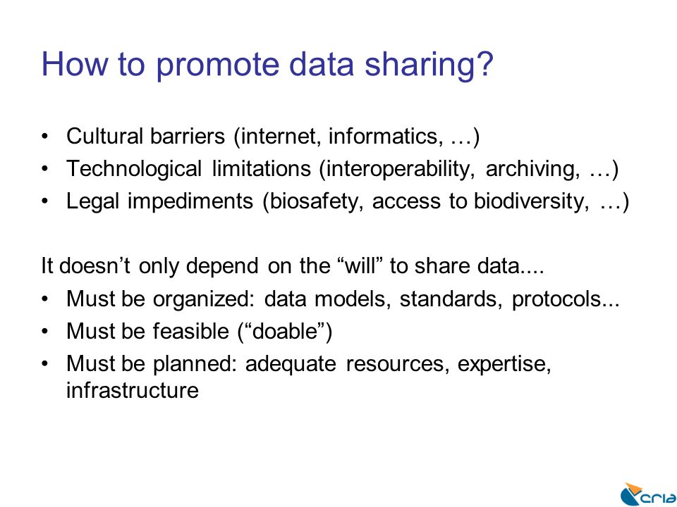 How to promote data sharing.