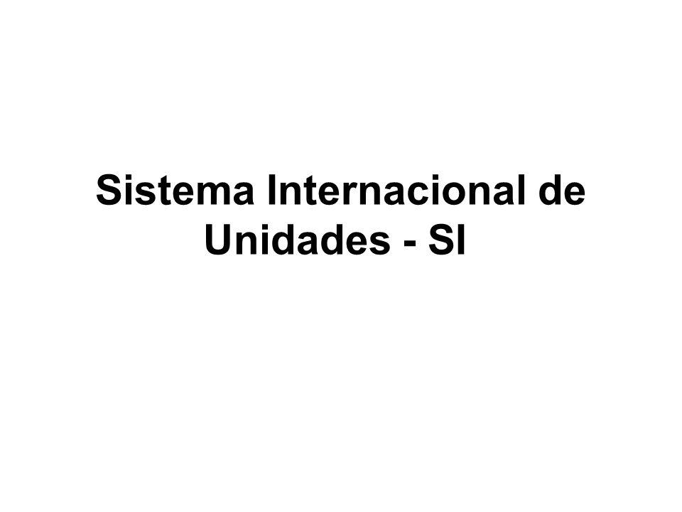 Sistema Internacional de Unidades - SI