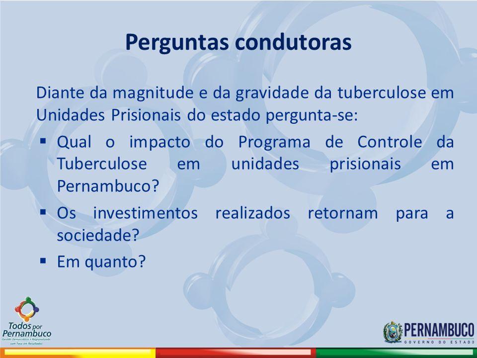 Diante da magnitude e da gravidade da tuberculose em Unidades Prisionais do estado pergunta-se: Qual o impacto do Programa de Controle da Tuberculose em unidades prisionais em Pernambuco.
