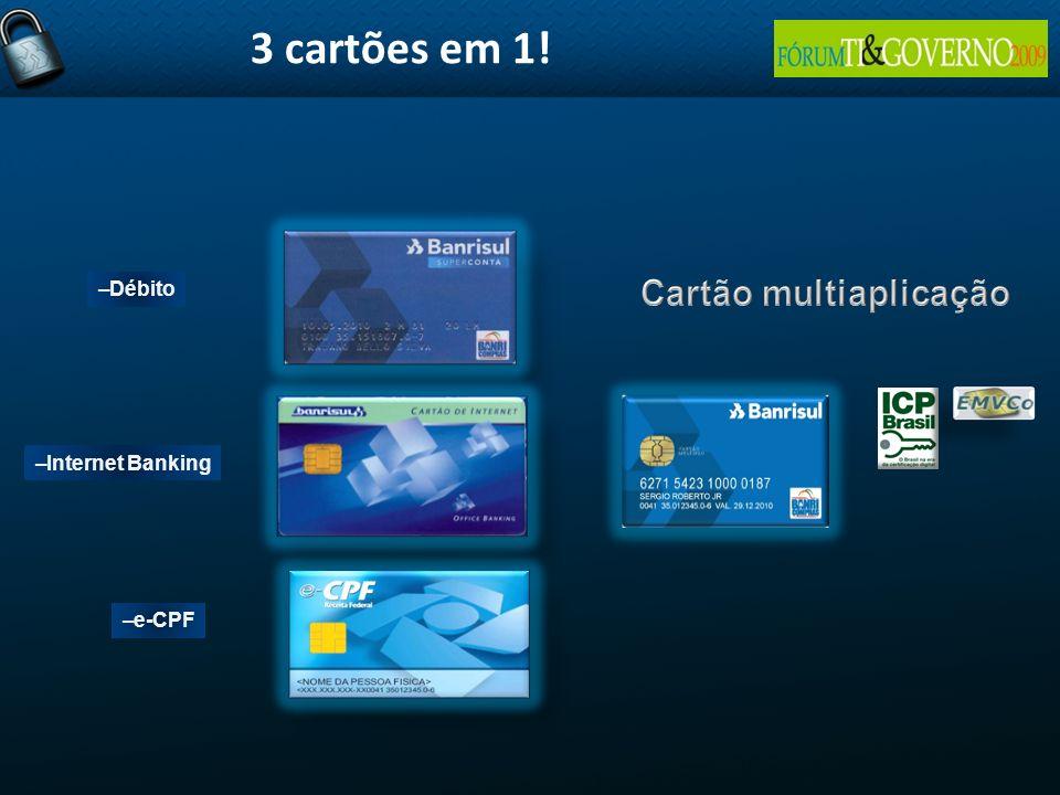 –Débito –Internet Banking –e-CPF 3 cartões em 1!