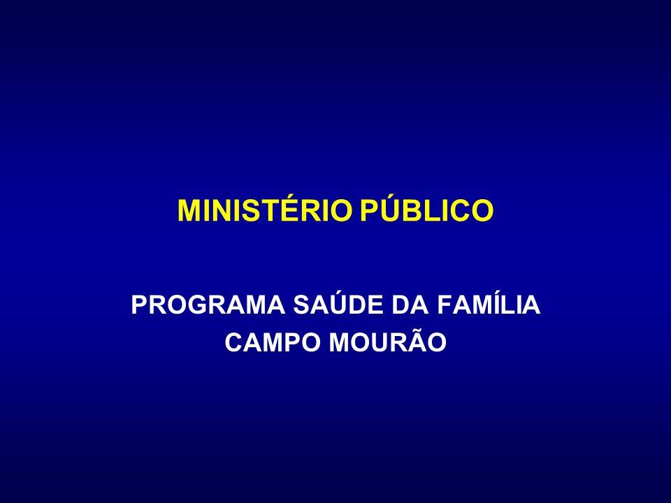 MINISTÉRIO PÚBLICO PROGRAMA SAÚDE DA FAMÍLIA CAMPO MOURÃO