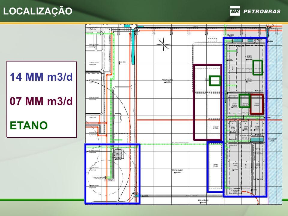 LOCALIZAÇÃO 14 MM m3/d 07 MM m3/d ETANO