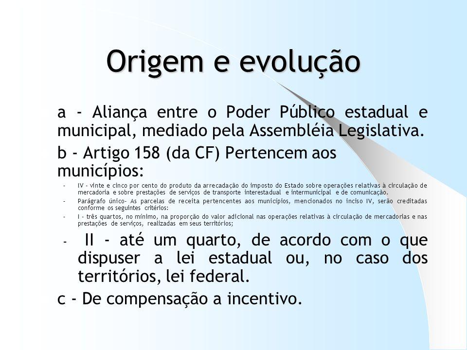 Distribuição do ICMS aos municípios – o exemplo do Paraná