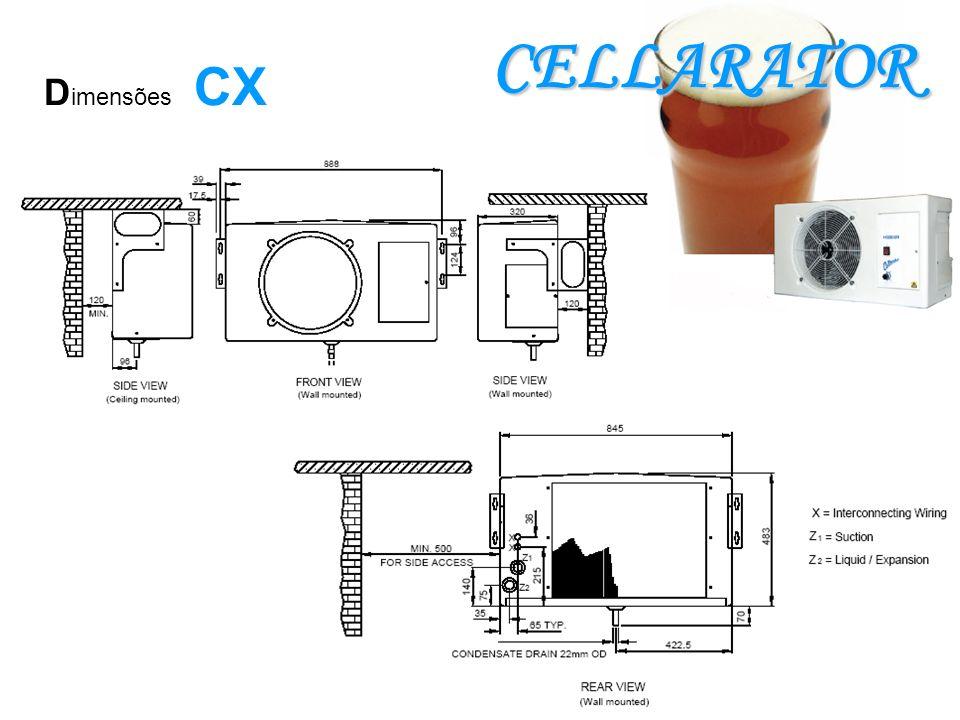 CELLARATOR D imensões CX