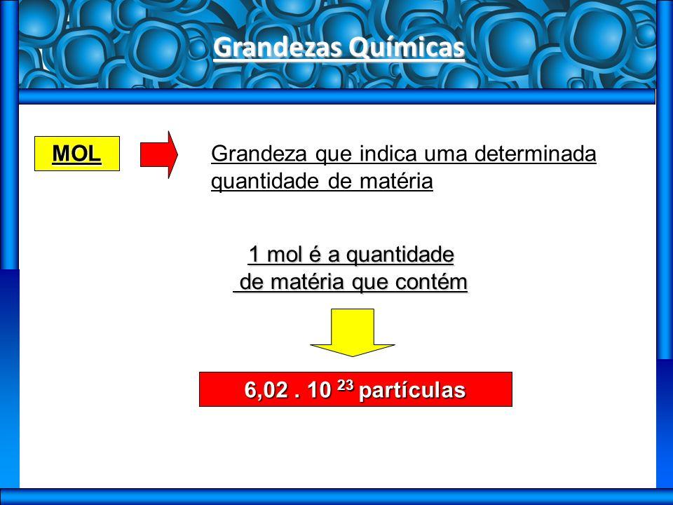 Grandezas Químicas MOL 6,02.
