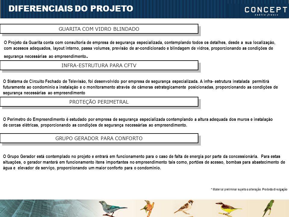 DIFERENCIAIS DO PROJETO GUARITA COM VIDRO BLINDADO O Projeto da Guarita conta com consultoria de empresa de segurança especializada, contemplando todo