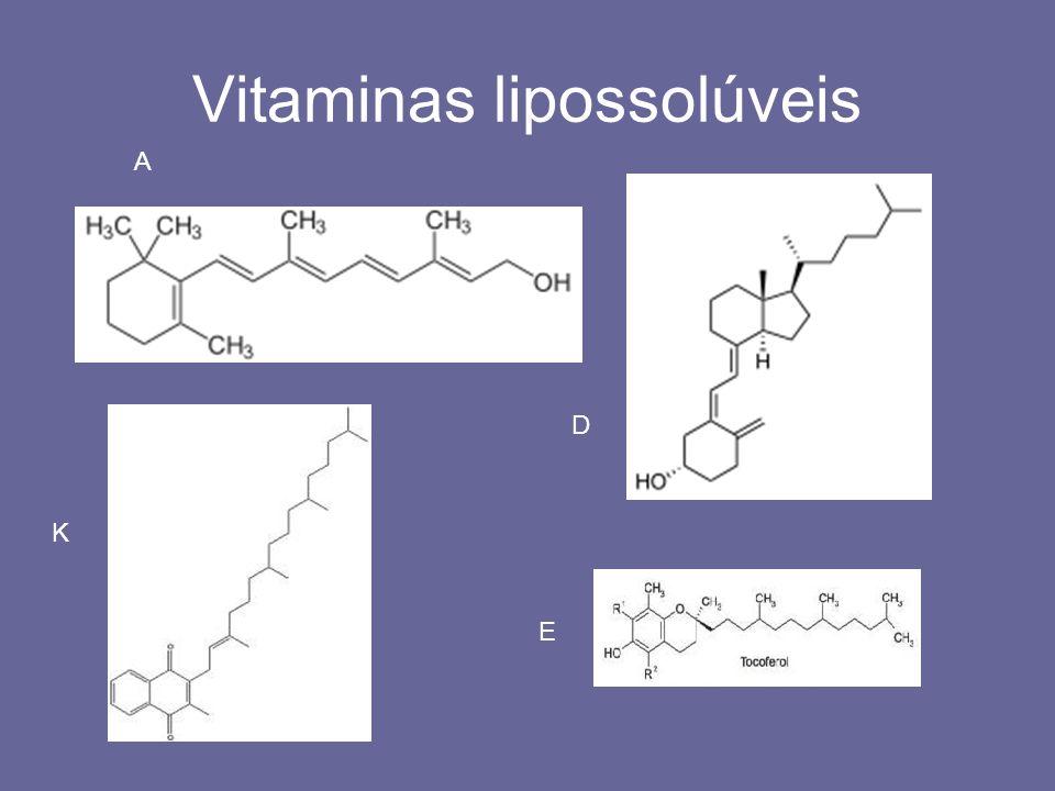 Vitaminas lipossolúveis A K D E