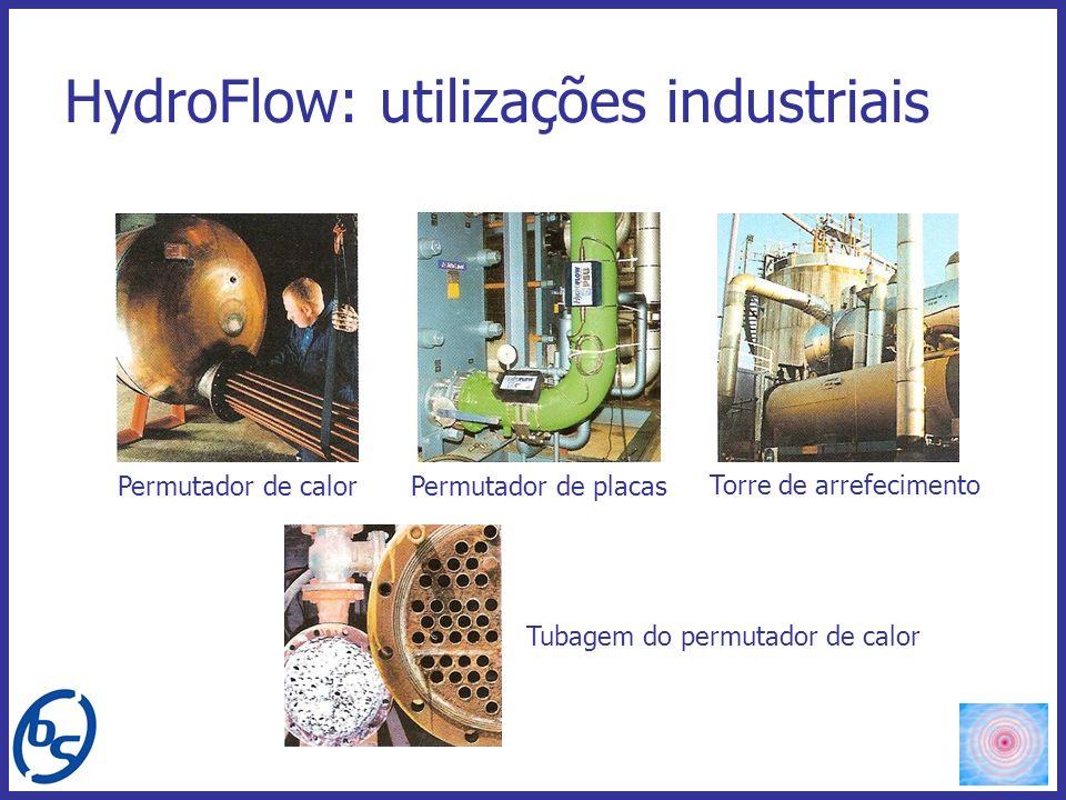 HydroFlow: utilizações industriais Permutador de calor Permutador de placas Torre de arrefecimento Tubagem do permutador de calor