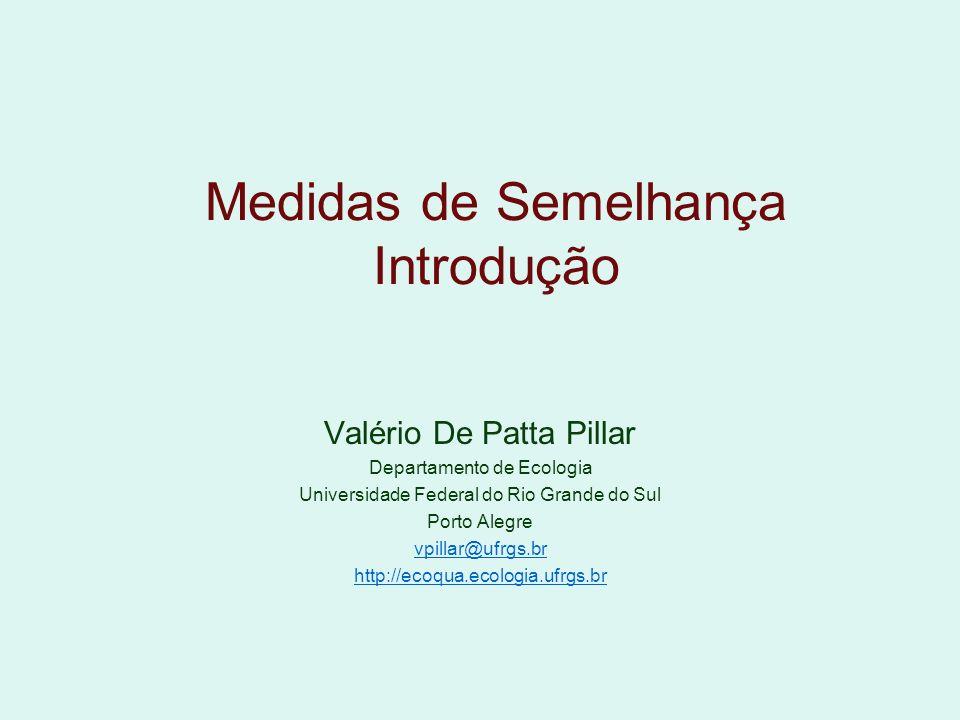 Valério De Patta Pillar Departamento de Ecologia Universidade Federal do Rio Grande do Sul Porto Alegre vpillar@ufrgs.br http://ecoqua.ecologia.ufrgs.