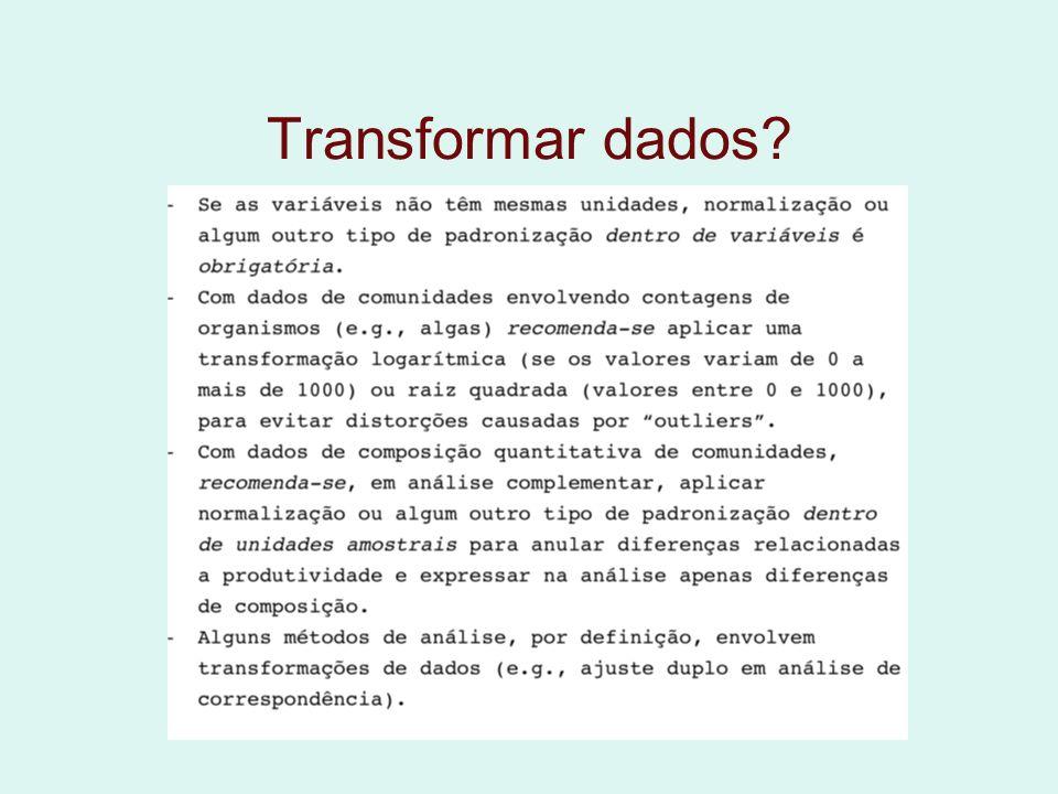 Transformar dados?