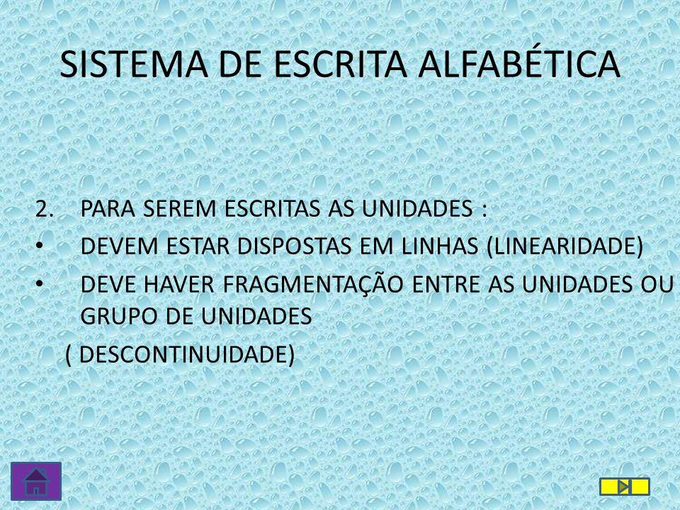 3.OUTRAS PROPRIEDADES: QUANTIDADE MÍNIMA VARIAÇÃO INTERNA COMBINAÇÃO SISTEMA DE ESCRITA ALFABÉTICA