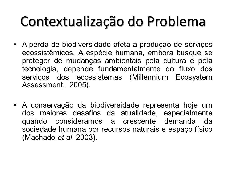 A perda de biodiversidade afeta a produção de serviços ecossistêmicos. A espécie humana, embora busque se proteger de mudanças ambientais pela cultura