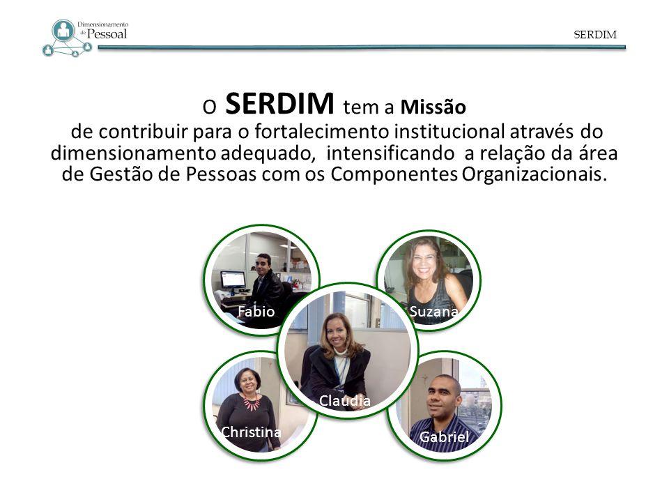 SERDIM O SERDIM tem a Missão de contribuir para o fortalecimento institucional através do dimensionamento adequado, intensificando a relação da área d