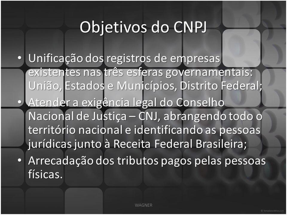 Composição Numérica do CNPJ WAGNER
