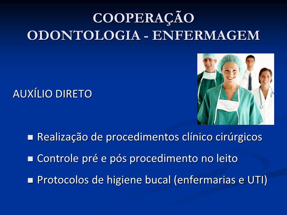 AUXÍLIO DIRETO Realização de procedimentos clínico cirúrgicos Realização de procedimentos clínico cirúrgicos Controle pré e pós procedimento no leito