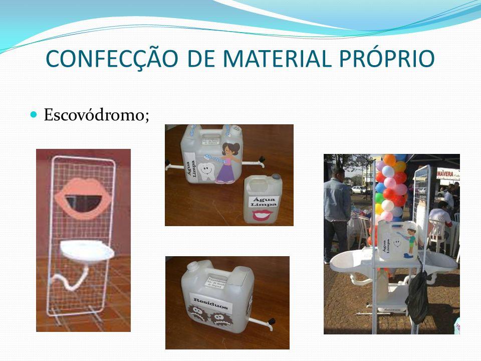 CONFECÇÃO DE MATERIAL PRÓPRIO Escovódromo;