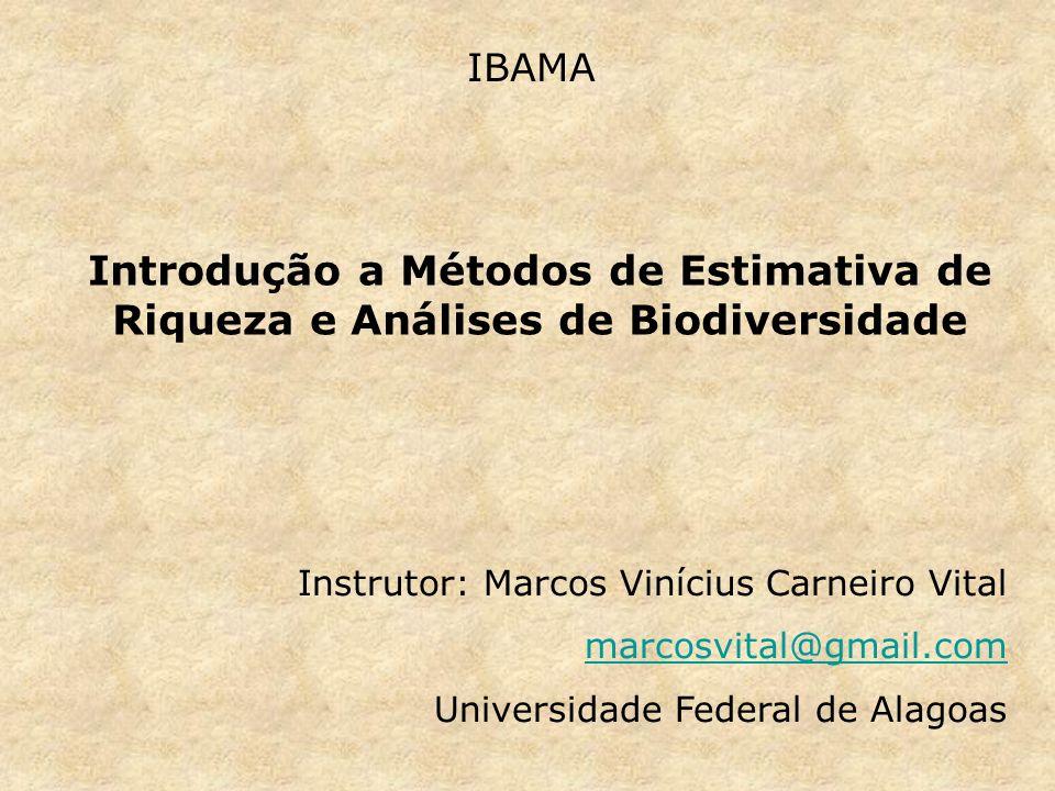 Estrutura do curso - Planejamento, coleta e análise de dados de biodiversidade.