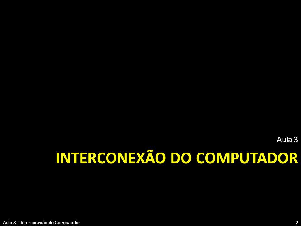 INTERCONEXÃO DO COMPUTADOR Aula 3 2Aula 3 – Interconexão do Computador